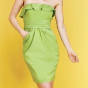 {Jessica Simpson} Lime Green Strapless Dress